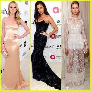 Anne V, Irina Shayk, & Karolina Kurkova: Gorgeous Models at Elton John Oscars Party 2014