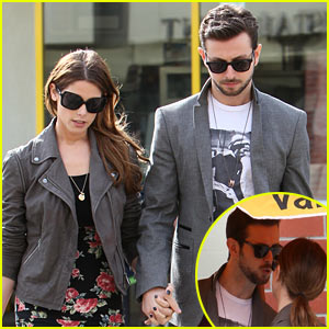 Ashley Greene & Paul Khoury Lean in For a Kiss After Lunch