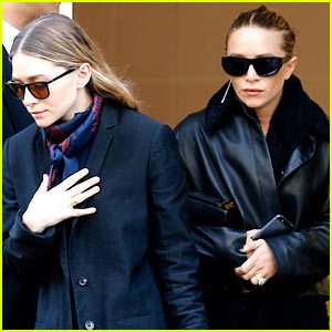 Ashley Olsen Leads the Way in Paris, Mary-Kate & Her Huge Rock Follow Close Behind