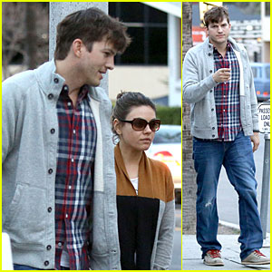Ashton Kutcher & Mila Kunis Grab Dinner as Newly Engaged Couple!
