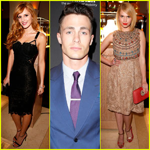 Bella Thorne & Colton Haynes: Pre-Oscars Bash with 'Surviving Jack' Actress Claudia Lee