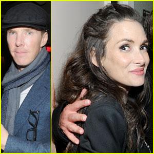 Benedict Cumberbatch & Winona Ryder Mingle with Samuel L. Jackson at Pre-Oscars Party