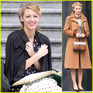 Blake Lively Gets Serious Reading Done For 'Age of Adaline'!