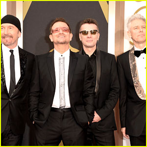 Bono & U2 Walk Oscars 2014 Red Carpet Before Performing!
