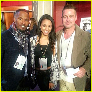 Brad Pitt & Jamie Foxx: Prepping as Presenters at Oscars 2014 Rehearsals!
