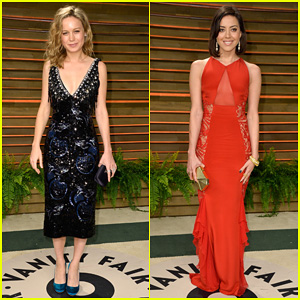 Brie Larson & Aubrey Plaza - Vanity Fair Oscars Party 2014