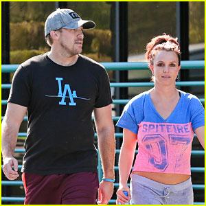 Britney Spears & Boyfriend David Lucado Sweat It Out Together