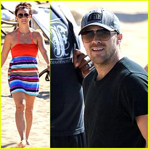 Britney Spears Is Bright & Beach Ready with David Lucado!