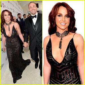 Britney Spears - Elton John Oscars Party 2014 with Boyfriend David Lucado