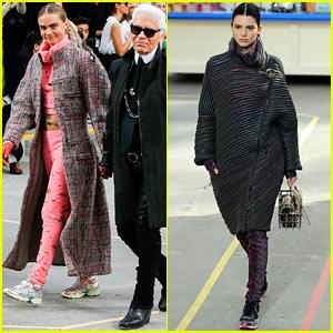 Cara Delevingne & Kendall Jenner Walk Supermarket Inspired Runway at Chanel Show