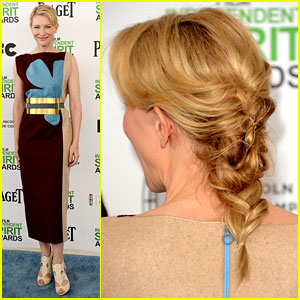Cate Blanchett Rocks a Braid at Independent Spirit Awards 2014