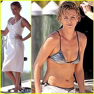 Charlize Theron Bares Her Bikini Body for Miami Photo Shoot!