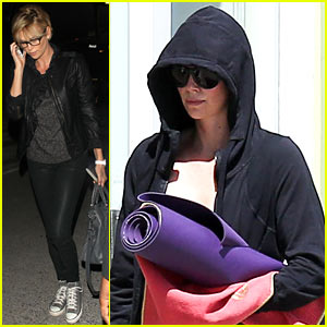 Charlize Theron Makes Working Out a Priority Before Flying Out of Town!