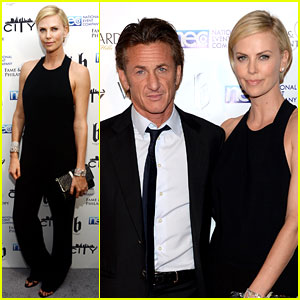 Charlize Theron & Sean Penn Walk First Red Carpet Together at Oscars 2014 Party!