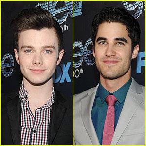 Chris Colfer & Darren Criss Suit Up at 'Glee' 100th Episode Celebration!
