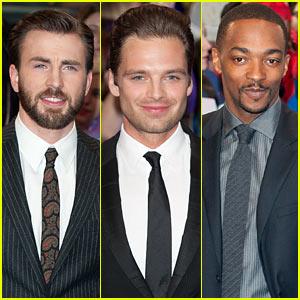 Chris Evans & Sebastian Stan Are Two Dapper Dudes at 'Captain America 2' UK Premiere