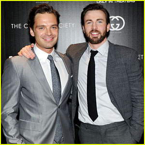 Superhero Studs! Chris Evans & Sebastian Stan Heat Up 'Captain America' NYC Premiere!