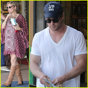 Chris Hemsworth & Elsa Pataky Enjoy a Pizza Lunch Date!