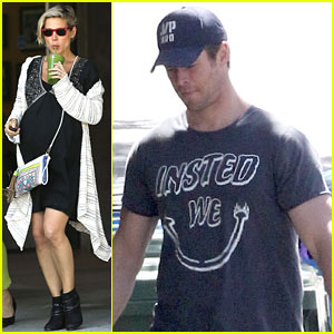 Chris Hemsworth & Elsa Pataky Keep Busy Before the Twins Arrival!