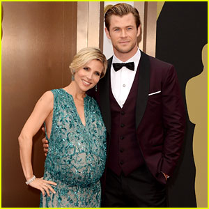 Chris Hemsworth's Wife Elsa Pataky Flaunts Massive Baby Bump at Oscars 2014!