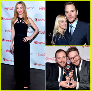 Chris Pratt, Seth Rogen, & Leslie Mann: Comedy Takes Over at CinemaCon Awards!