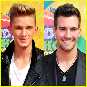 Cody Simpson & James Maslow Dance Their Way to the Kids' Choice Awards 2014!