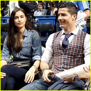 Cristiano Ronaldo & Girlfriend Irina Shayk Make a Perfect Courtside Couple!