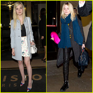 Dakota & Elle Fanning Are Chic Sisters on Separate Continents