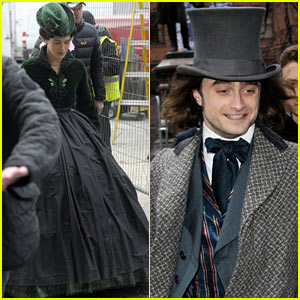 Daniel Radcliffe & Jessica Brown Findlay Wear Period Garb for 'Frankenstein' Filming!