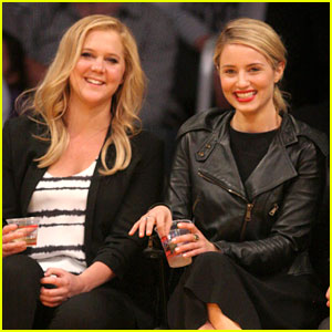 Dianna Agron Sits Courtside at Lakers Game with Comedian Amy Schumer!