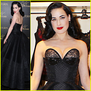 Dita Von Teese Stuns At Her Bloomingdale's Lingerie Collection Launch!