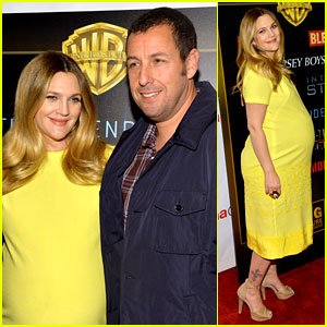 Drew Barrymore Flaunts Massive Baby Bump at CinemaCon!