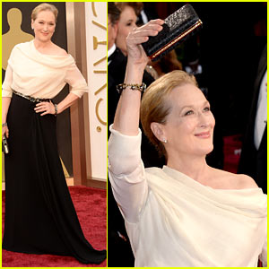 Eighteen-Time Nominee Meryl Streep Arrives at Oscars 2014!