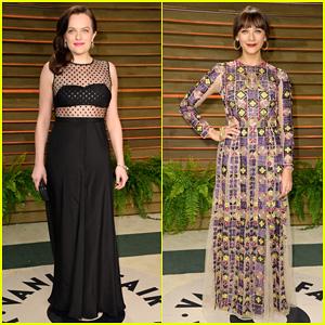 Elisabeth Moss & Rashida Jones - Vanity Fair Oscar Party 2014