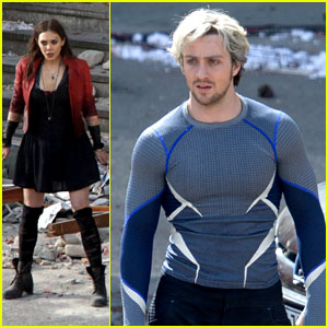 Elizabeth Olsen & Aaron Taylor-Johnson: 'Avengers 2' Set Photos!