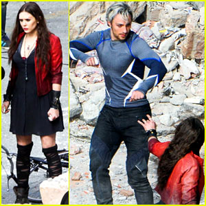 Elizabeth Olsen & Aaron Taylor-Johnson: Back in Action As Scarlet Witch & Quicksilver for 'Avengers 2'!
