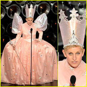 Ellen DeGeneres is Wizard of Oz's Glinda at Oscars 2014 (Video)
