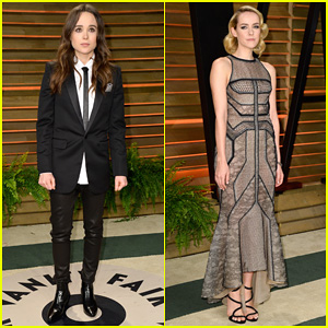 Ellen Page & Jena Malone - Vanity Fair Oscars Party 2014