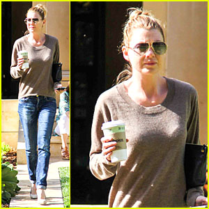 Ellen Pompeo Enjoys a Piece of France at Bouchon Bistro!
