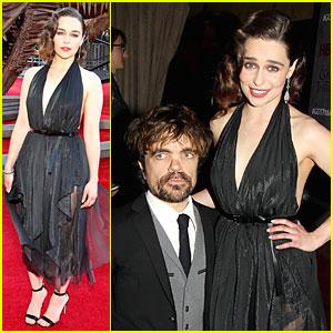 Emilia Clarke & Peter Dinklage Premiere 'Game of Thrones' Season 4!