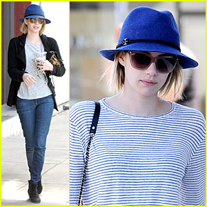 Emma Roberts Enjoys Catching Up on 'Girls' with Yummy Cake By Her Side!