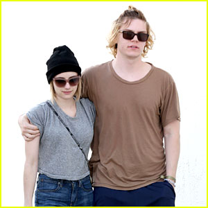 Emma Roberts & Evan Peters Cozy Up After Sunday Lunch