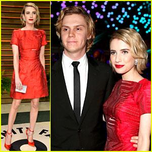 Emma Roberts & Evan Peters - Vanity Fair Oscars Party 2014