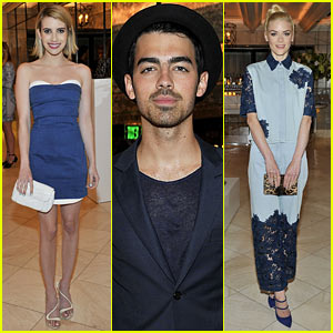 Emma Roberts & Jaime King Go Glam for Nicholas Kirkwood Dinner!