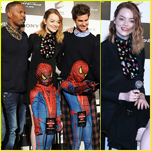 Emma Stone & Andrew Garfield Hit Tokyo For 'Amazing Spider-Man 2' Press Conference!!