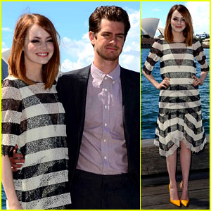 Emma Stone & Andrew Garfield Are a Picture Perfect Couple at 'Spider-Man 2' Sydney Photo Call!