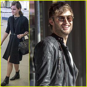 Emma Watson & Douglas Booth Arrive in Berlin for 'Noah' Premiere!