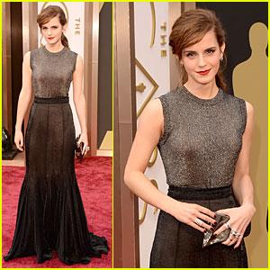 Emma Watson Rocks Metallic on Oscars 2014 Red Carpet!