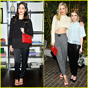 Emmy Rossum & Jaime King Show Off Their Red Luscious Lips at Sandro Paris Celebration!