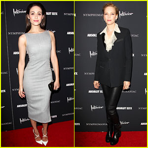Emmy Rossum Supports 'Nymphomaniac' Cast at NY Premiere!